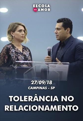 Tolerância no relacionamento - Escola do Amor em Campinas - 27/09/18