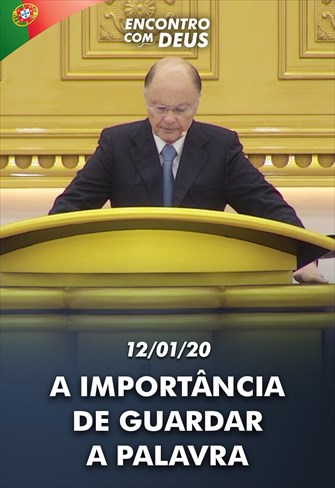 A importância de guardar a Palavra - Bispo Macedo direto de Portugal - 12/01/20