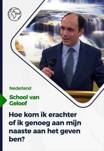 School van Geloof - 6/1/21 - Nederland
